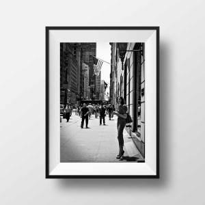 Photo New-York 5th Avenue Noir et Blanc