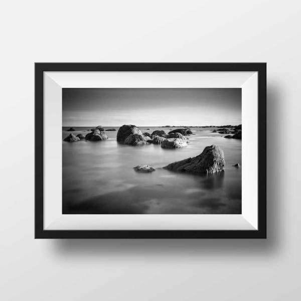 Photo Noir et Blanc Bord de Mer Bretagne