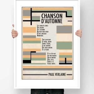 Affiche Paul Verlaine Chanson d'automne
