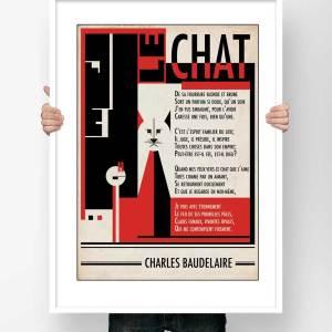 Affiche Poésie Charles Baudelaire Le Chat