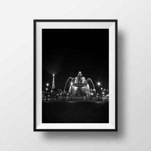 Place de la concorde et Tour Eiffel