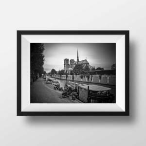 Notre Dame de Paris en Noir et Blanc