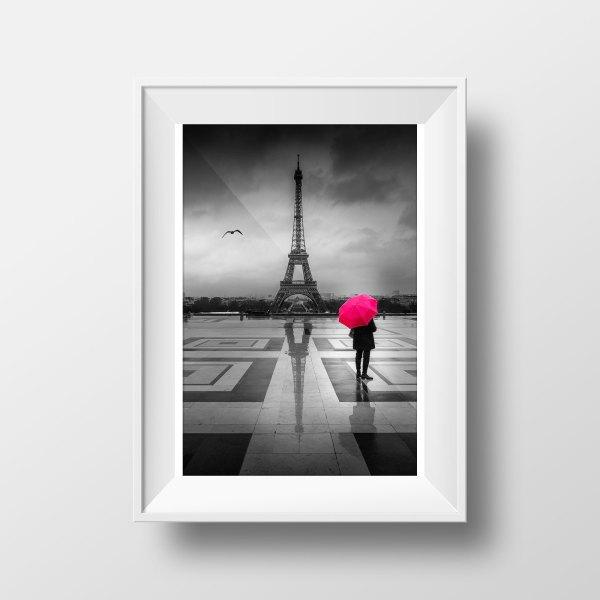 Tour eiffel parapluie-rouge