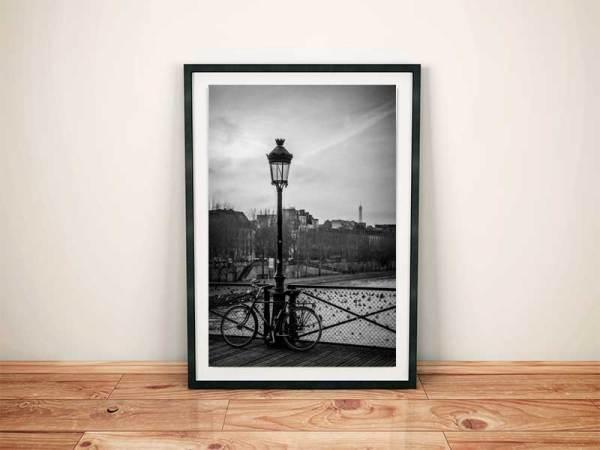 Photo noir et blanc paris pont des arts