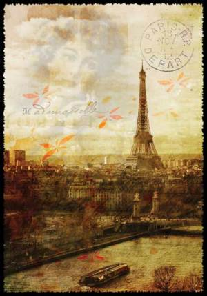 Cartes Postales Paris vintage - La Seine et la Tour Eiffel