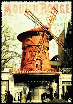 Cartes Postales Paris vintage - Moulin rouge