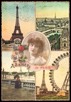 Cartes Postales Paris vintage - Un baiser de Paris