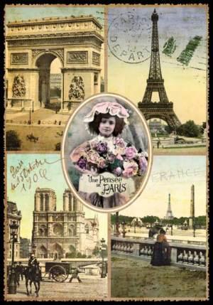 Cartes Postales Paris vintage - Une Pensée de Paris