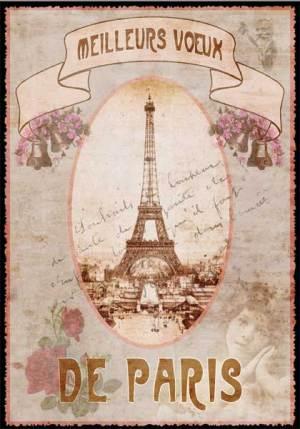 Cartes Postales Paris vintage - Meilleurs Voeux