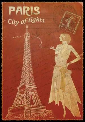 Cartes Postales Paris vintage - City of Lights