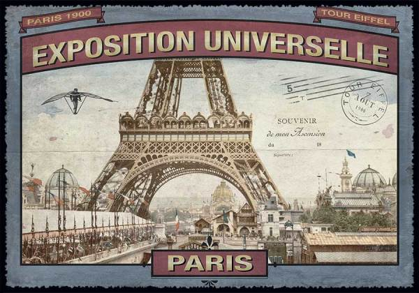 Cartes Postales Paris vintage - Exposition Universelle 1900