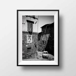 Photo Noir et Blanc Sienne Italie