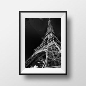 Photo Paris Tour Eiffel en Noir et Blanc