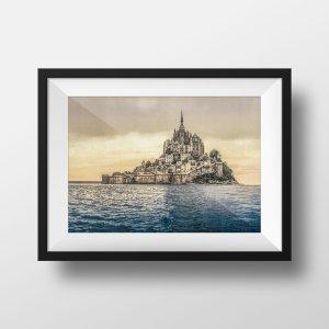 Photo Ancienne Le Mont-Saint-Michel Normandie