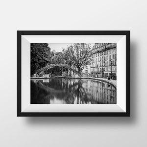 Photo Paris Le Canal Saint Martin en Noir et Blanc