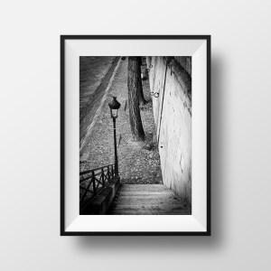 Tirage Photo Paris Noir et Blanc Les Quais