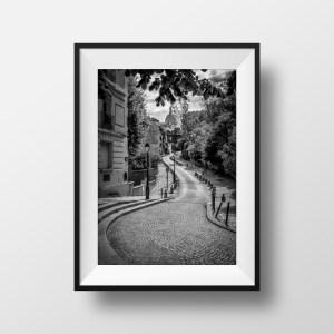 Photo de Paris Montmartre Rue de l'Abreuvoir