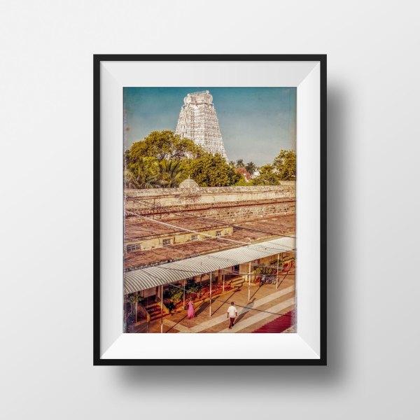 tirage photo srirangaram temple gopura