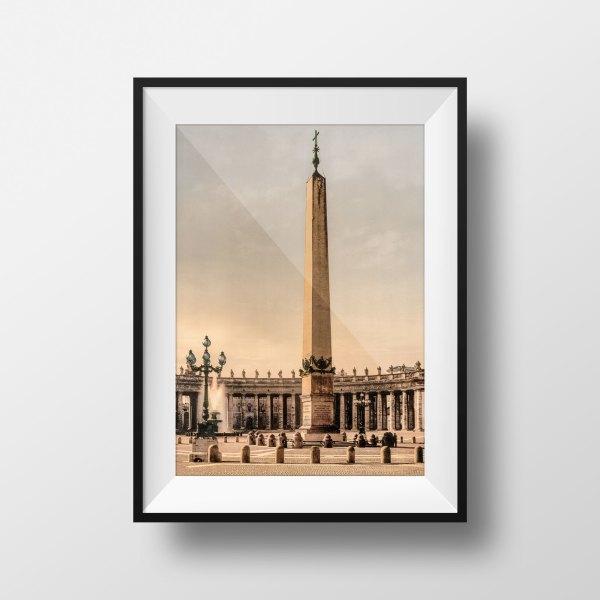 Photo ancienne Rome Vatican Place Saint-Pierre