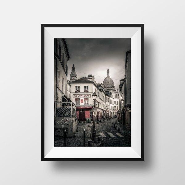 Tirage Photo Paris Montmartre Rue Norvins