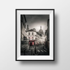 Tirage Photo Paris Montmartre Rue Norvins