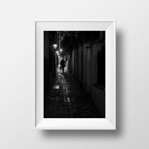 Tirage Photo Paris Ménilmontant Noir et Blanc Passage