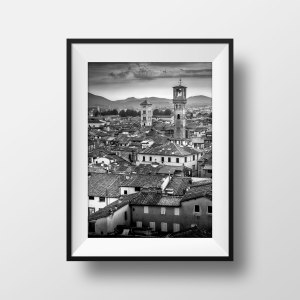 Tirage Photo Noir et Blanc Toscane Lucca Lucques