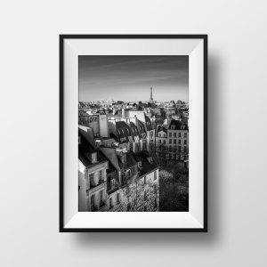 Photo de Paris Les Toits et la Tour Eiffel