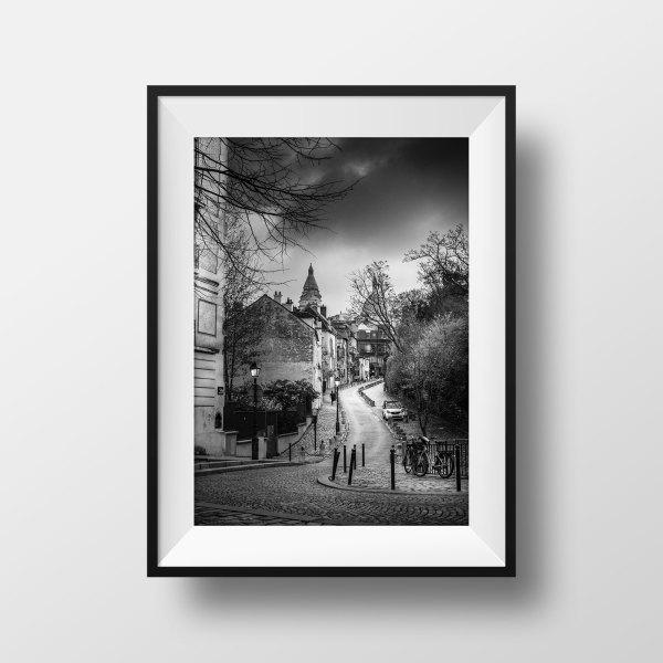 Photo Vieux Paris Montmartre Rue de l'Abreuvoir