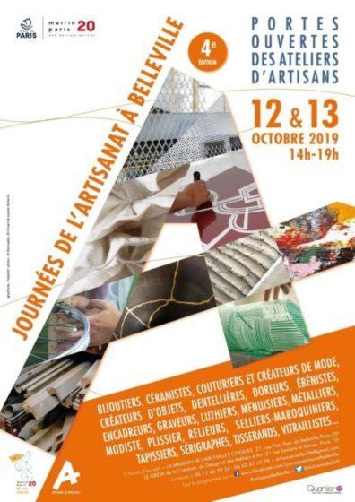 4ème édition Journées de l'Artisanat de Belleville // 12-13 octobre 2019