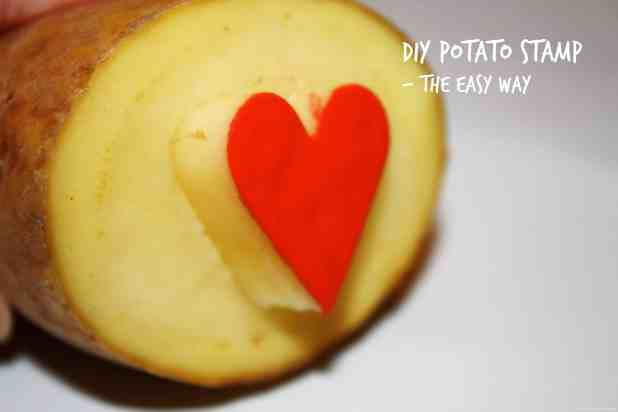 DIY Potato Stamp - the easy way