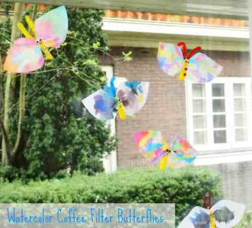 Beautiful Watercolor Coffee Filter Butterflies