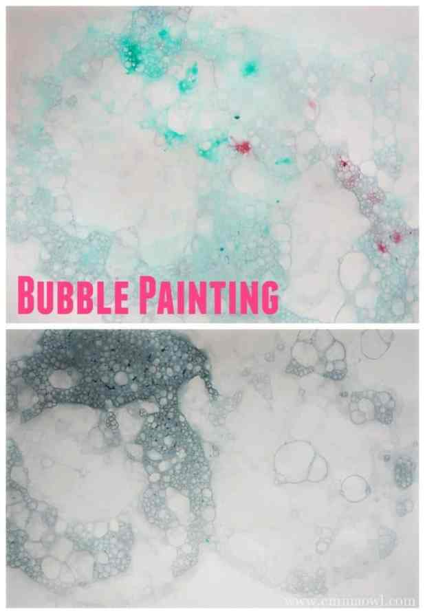 bubble blowing painting, the most fun you can have with paint