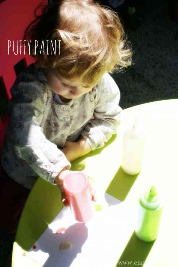 DIY PUFFY PAINT. Such fun!