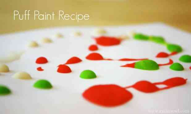 DIY Puff Paint Watermelons. This is the recipe