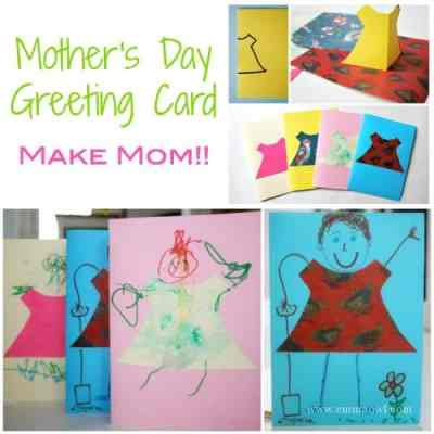 Making Mom a fantastic mothers day greeting card