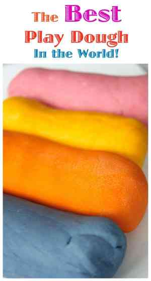 This Play Dough recipe is the best in the world! Seriously!! It lasts for months and is so easy - and cheap - to make