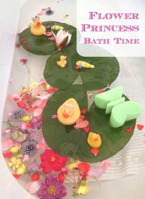 Flower Princess Bath Time Fun. A great idea to create magic in the bath