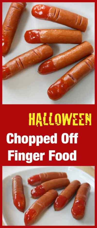 Halloween Snack - Chopped Off Fingers. This is fine food for monsters!!