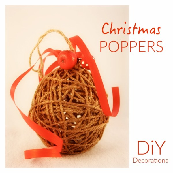 Make your Own Christmas Poppers - easy craft for kids to do! Poppers look great on the Christmas Tree!