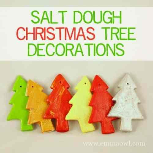 Salt Dough Christmas Tree Decorations