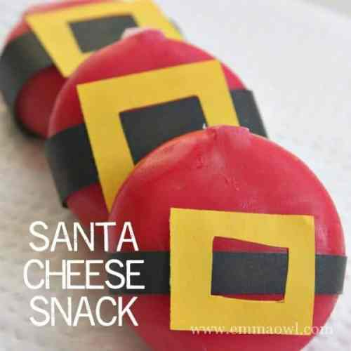 Santa Cheese Snack - kids and grown ups will love this easy idea