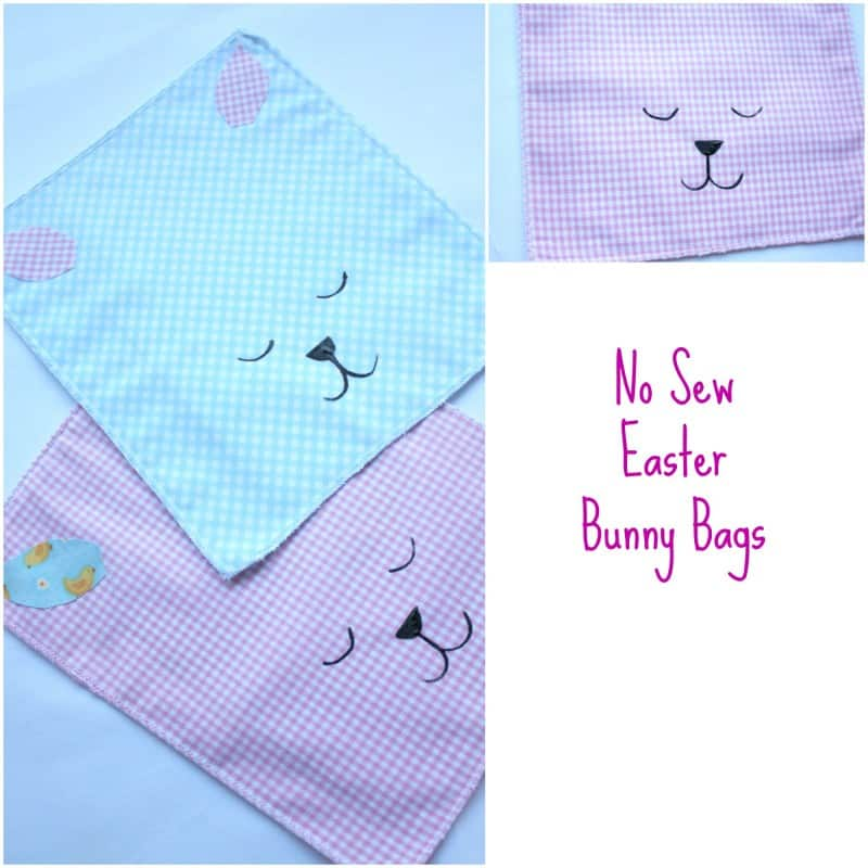 no sew Easter Bunny Bags