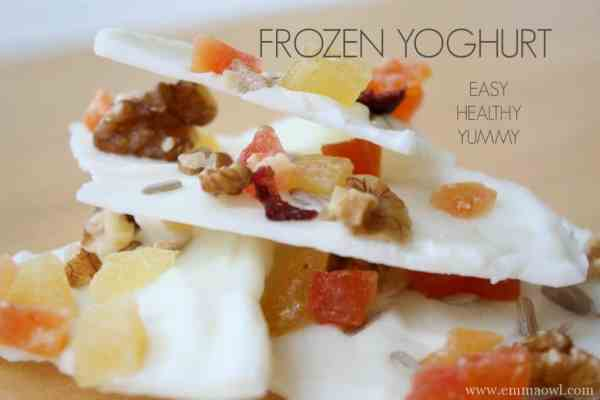 Frozen Yoghurt. This is the easiest, yummiest snack out there and it is healthy