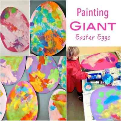 Process Easter Art - Giant Easter Eggs