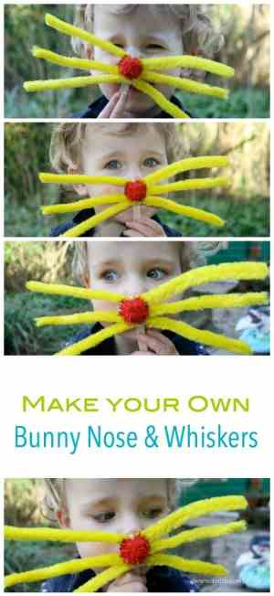 Such a cute - east to make Easter craft project! Make your own bunny nose and whiskers