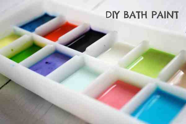 DIY Bath Paint for children. Such fun