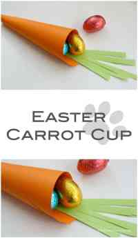 Easter Carrot Cup - easy Easter Craft to make - and perfect for an Easter Morning breakfast tray