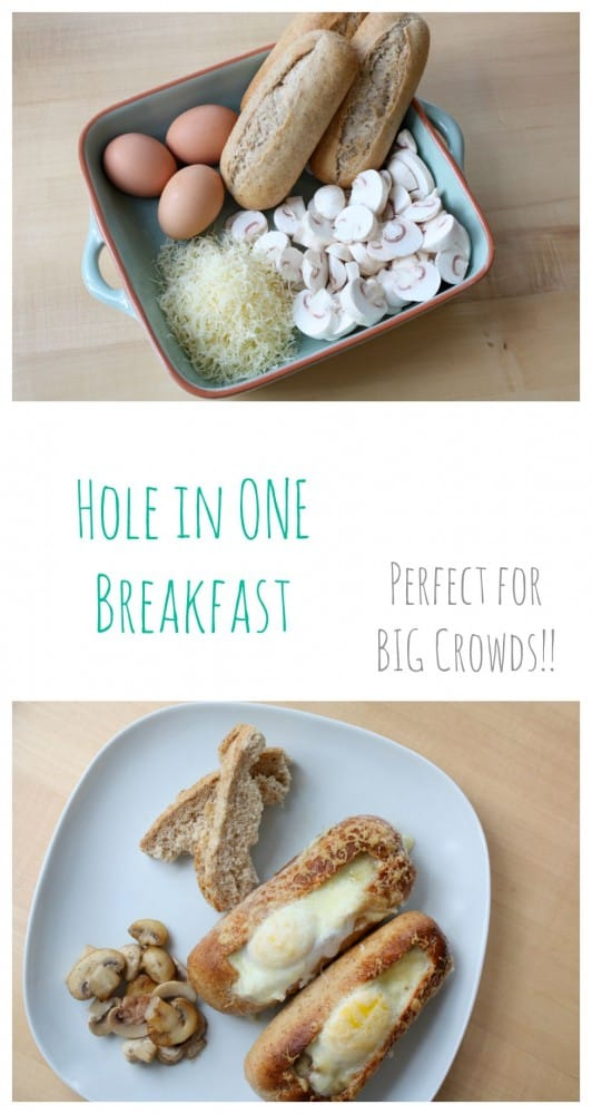 Hole in One Breakfast. This is the perfect breakfast recipe when cooking for lots of people!