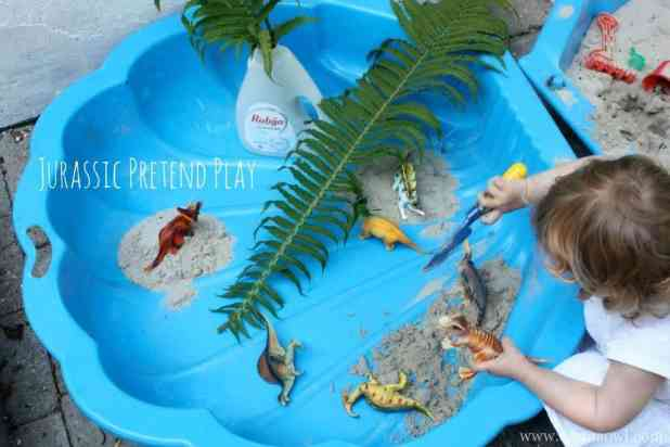 Jurassic Pretend Play. Playing with dinosaurs was so much fun